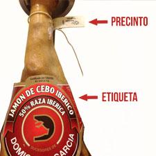 Jamón Ibérico: Diferencia entre el precinto y la etiqueta