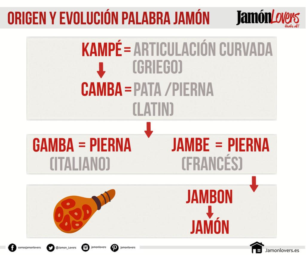 Origen y evolución de la palabra jamón