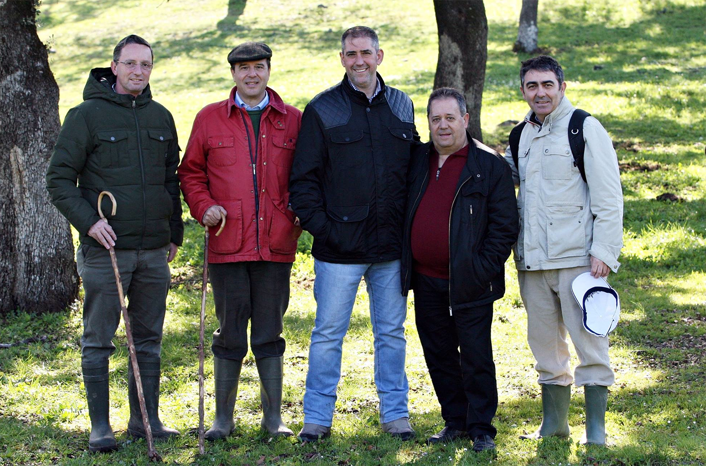 Manuel Pradas, visita a la dehesa