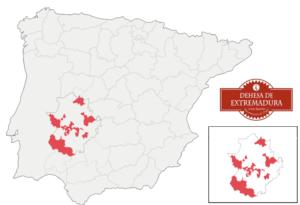 Zonas de producción Jamón DOP Dehesa de Extremadura