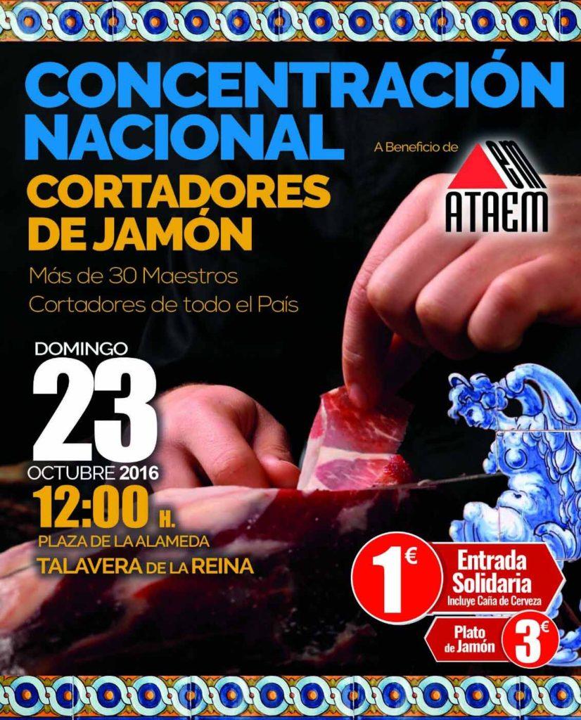 Concentración solidaria de Cortadores de Jamón en Talavera de la Reina