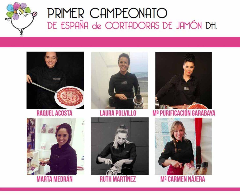 Primer Campeonato de España de Cortadoras de Jamón DH