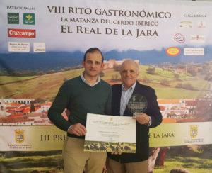 Ibéricos Sierra de Cazalla ganador del Concurso del Mejor Jamón III Premio Dehesas El Real de la Jara