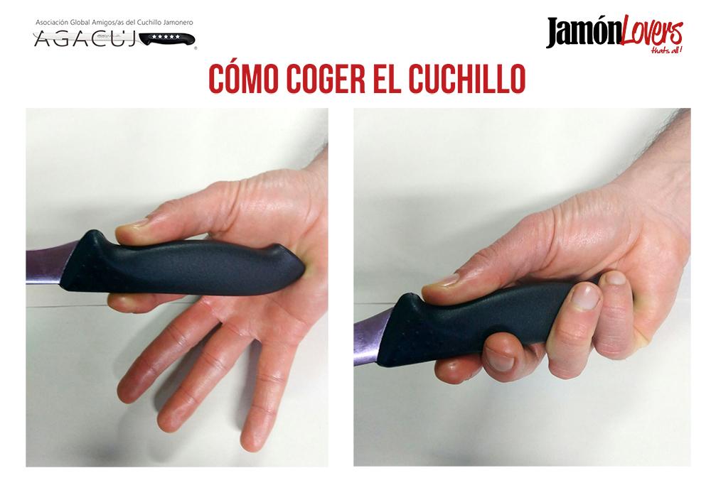 El corte de la paleta: Cómo coger el cuchillo para cortar la paletilla