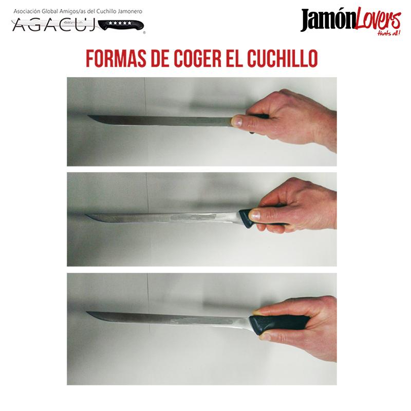 El corte de la paleta: Formas de coger el cuchillo para cortar la paletilla