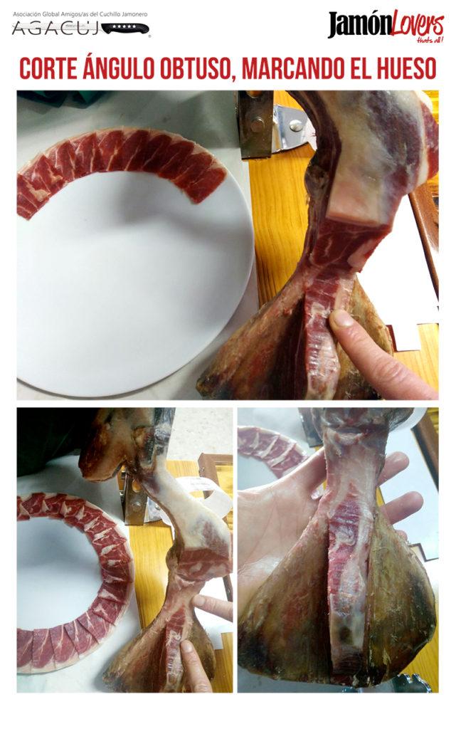 Cómo cortar una paletilla: Corte ángulo obtuso, marcando el hueso, el corte de la paleta