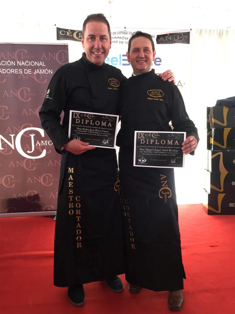 Pedro José Pérez Casco y Miguel Ángel Abril: Maestros Cortadores