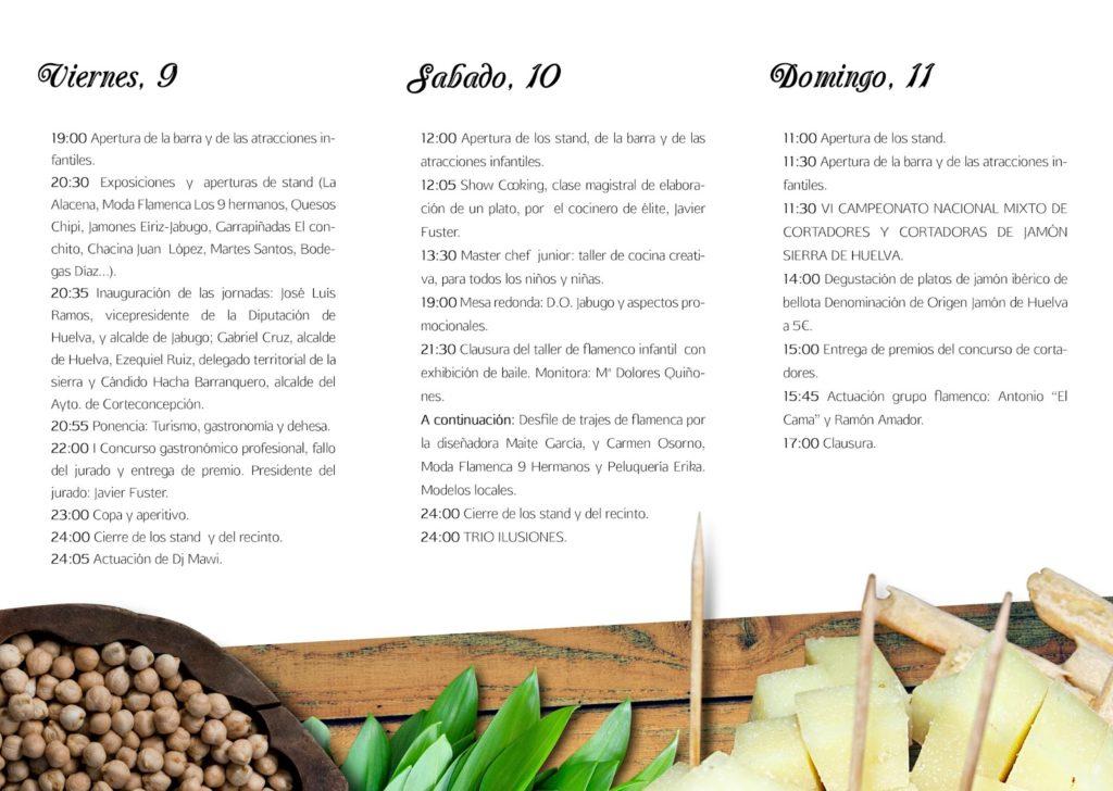 Programa VII Jornadas Gastronómicas Corteconcepción