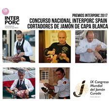 Final Concurso Nacional Interporc Spain de Cortadores de Jamón de Capa Blanca en el Congreso del Jamón