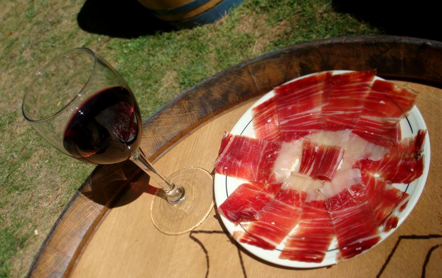 Dieta Jamón Ibérico y vino