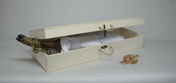 Caja transporte jamón ibérico