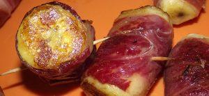 Pincho de Plátano con Jamón Ibérico