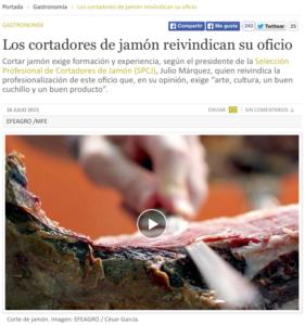 Los cortadores de jamón reivindican su oficio