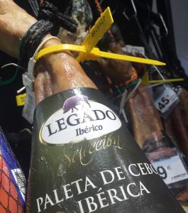 Paleta ibérico Cebo etiquetado anterior a la nueva norma de calidad del ibérico