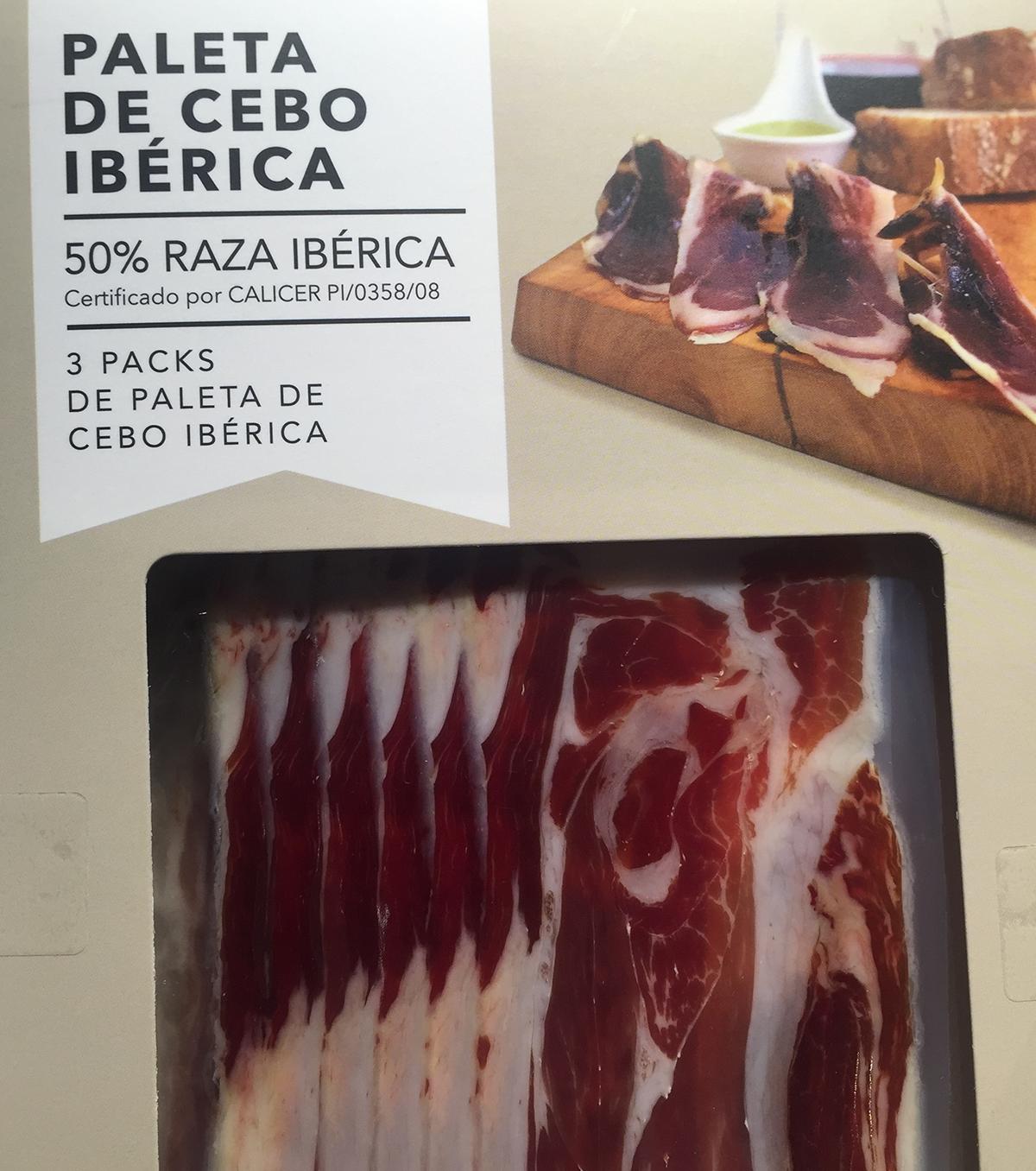 Paleta de Cebo Ibérica, pack loncheado