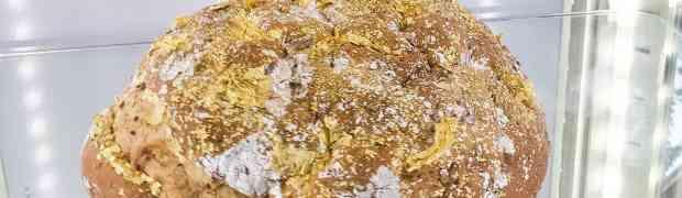 Pan con oro en polvo, un lujo de pan