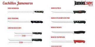 Cuchillos Jamoneros, cuchillos para cortar un jamón