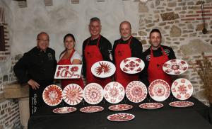 Virgilio Sánchez curso presentaciones de jamón en el plato