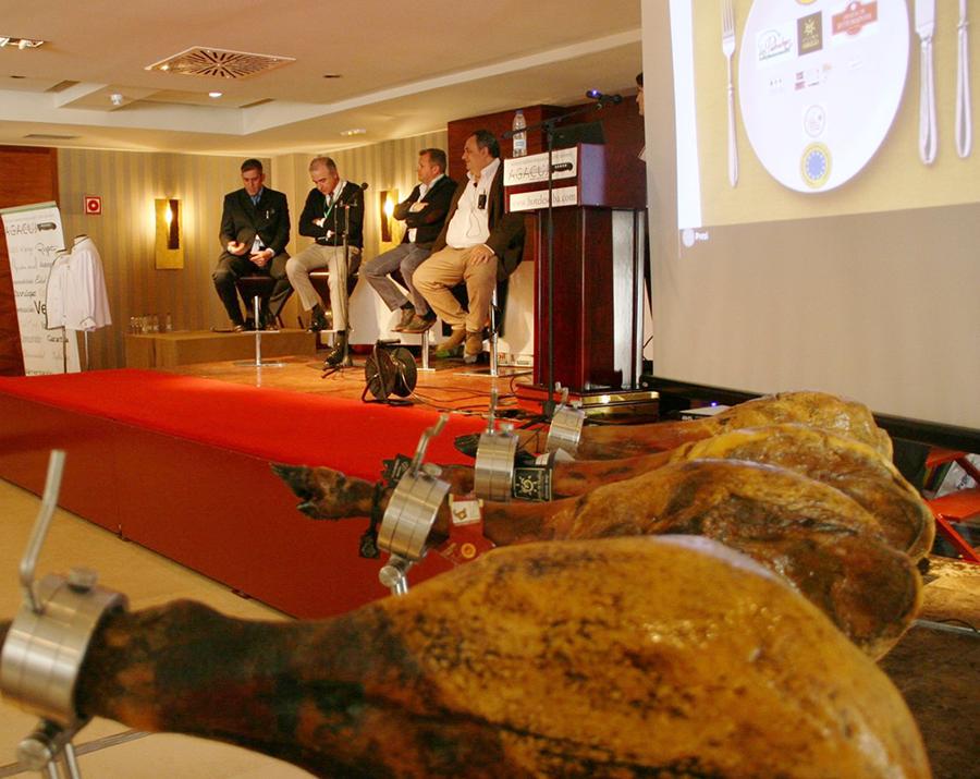 Mesa Redonda de la Jornada Formativa sobre el Jamón llevada a cabo por AGACUJ
