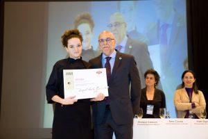 Raquel Acosta Quintanilla Subcampeona del Concurso de Cortadores Salón de Gourmets Dehesa de Extremadura 2015