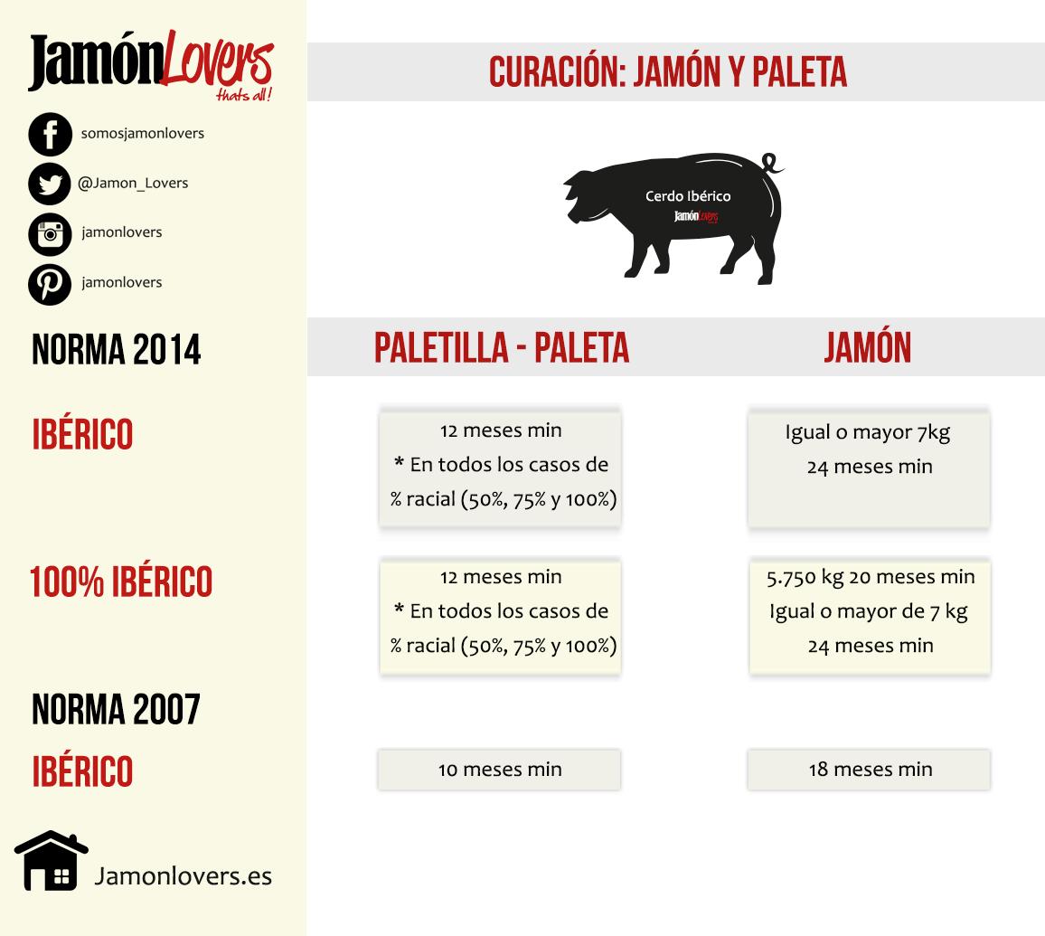 Diferencia entre jamón y paletilla. Cerdo Ibérico