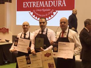 Ganadores 23 Concurso de Cortadores de Jamón Dehesa de Extremadura Salón de Gourmets