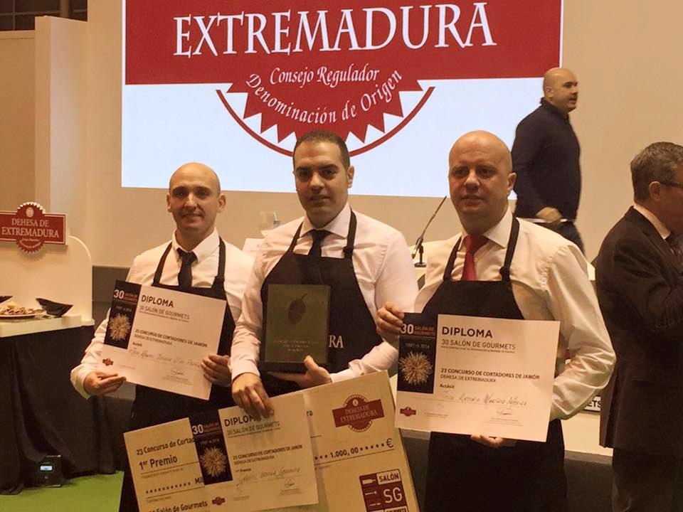 Ganadores 23 Concurso de Cortadores de Jamón Dehesa de Extremadura Salón de Gourmets 2016