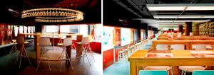 Mirador bar y mesa reservado restaurante Jamón Experience