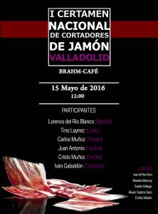 I Certamen Nacional de Cortadores de Jamón Valladolid
