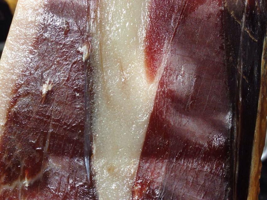 Pigmentaciones en la grasa del jamón ibérico