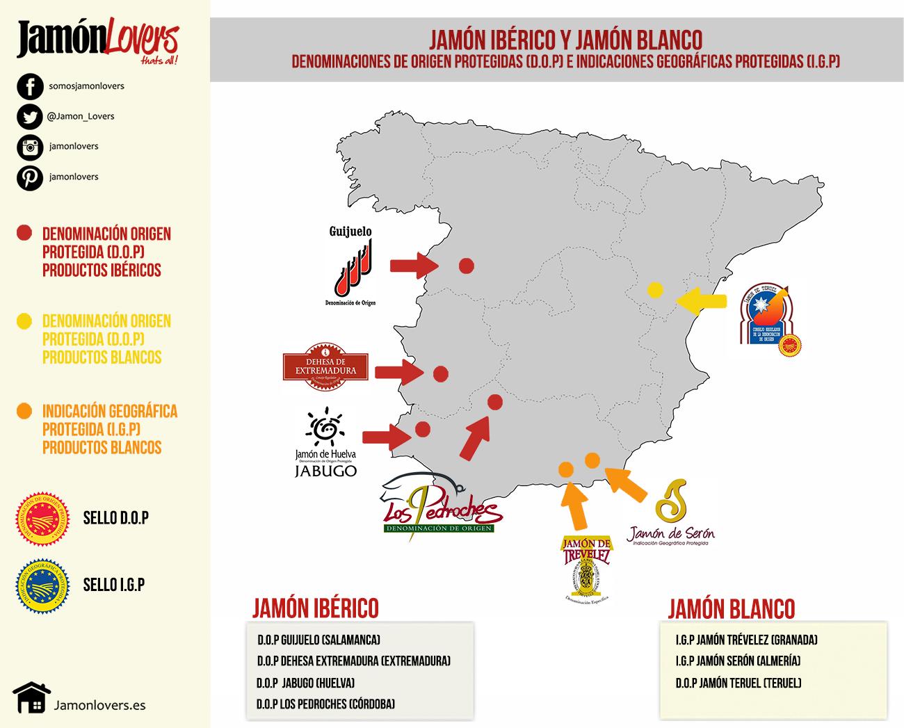 Denominaciones de origen protegidas jamón e indicaciones geográficas protegidas
