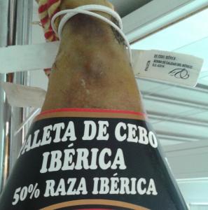 Etiquetado Paleta Nueva Norma: Paleta de Cebo Ibérica 50% Raza Ibérica