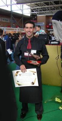 Fran Robles Ganador del Concurso de Cortadores de Jamón III Feria del Jamón Iberico de los Pedroches