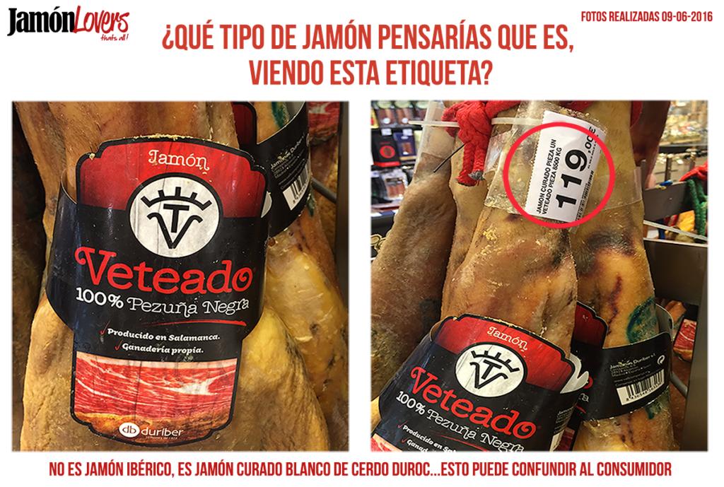 Etiquetado jamón ibérico confuso para el consumidor