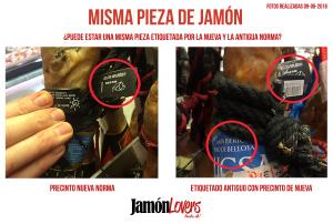 Etiquetado y precintos nueva y antigua norma jamón de bellota 100% ibérico