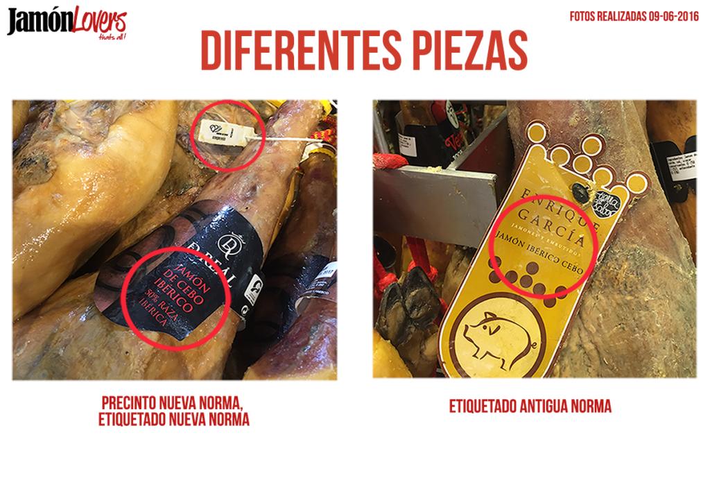 Etiquetado nueva norma de calidad del jamón ibérico.