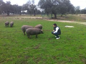 Fran Robles Visitando Dehesa