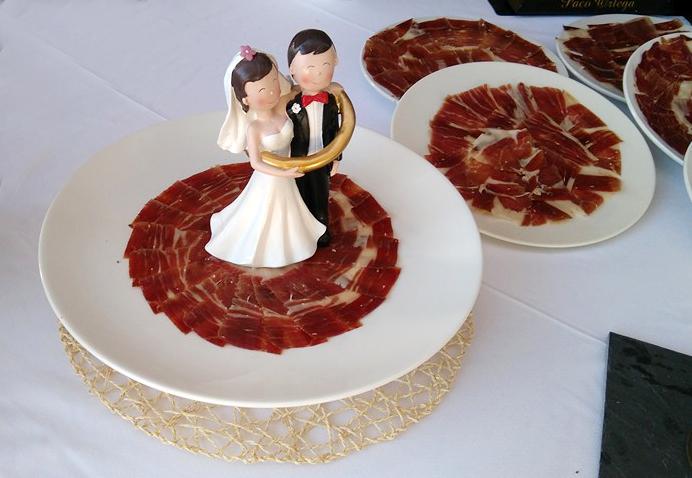 Jamón Ibérico boda, novios