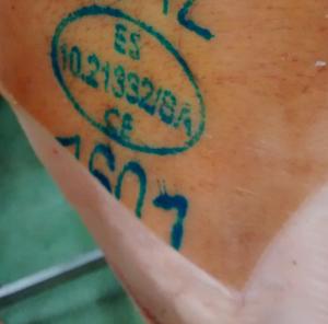 Sello SIV, óvalo o registro sanitario del jamón
