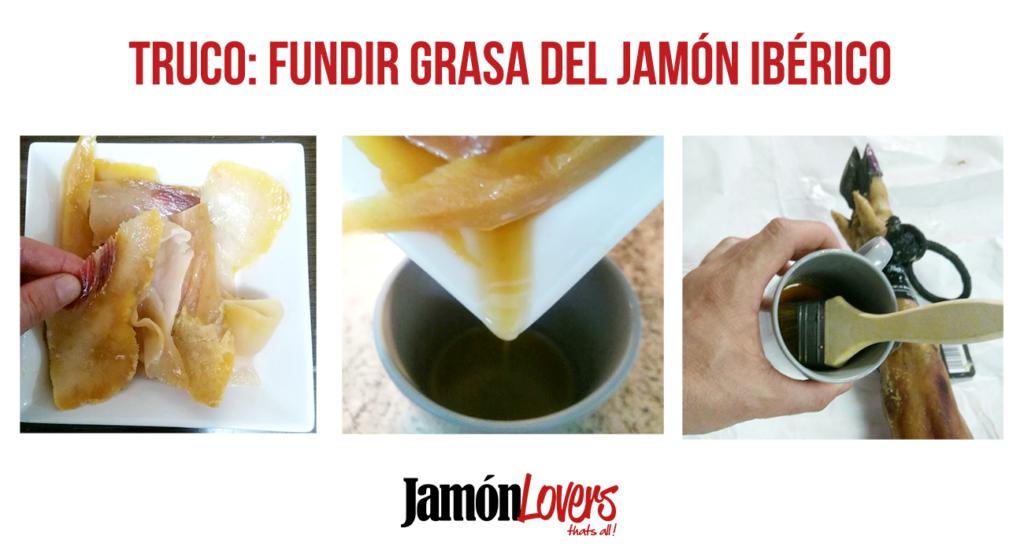 Truco: Fundir grasa del jamón ibérico para limpiar y eliminar bichos jamón