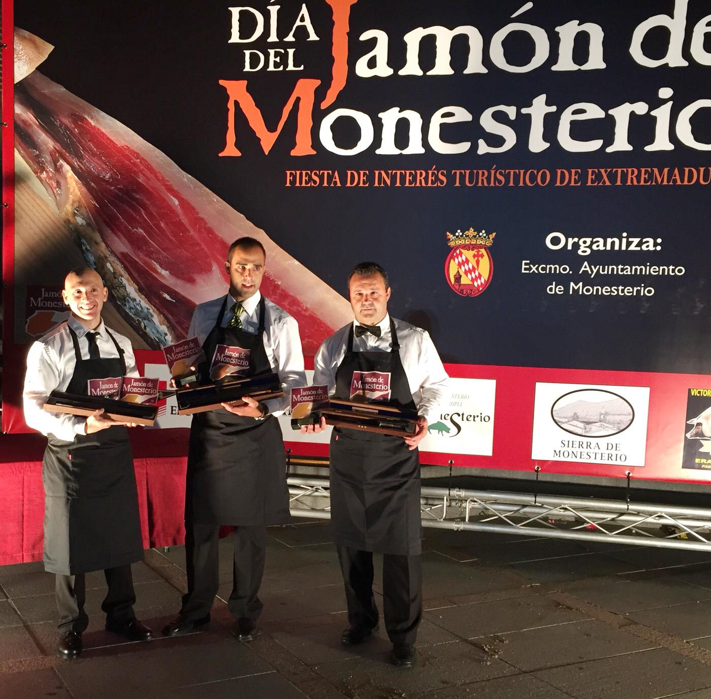 Pablo Montiel Enríquez Ganador Concurso Cortador de Jamón Monesterio 2015