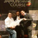 Chef Manu Manzano (Restaurante Mi Casa de Seúl) Isaac Cabañas (Iberko) y José Sol (Spanish Ham Master)