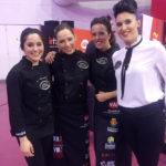 Marta Medrán, Carmen Nágera, Laura Polvillo, Purificación Garabaya: Cortadoras Jamón Valladolid
