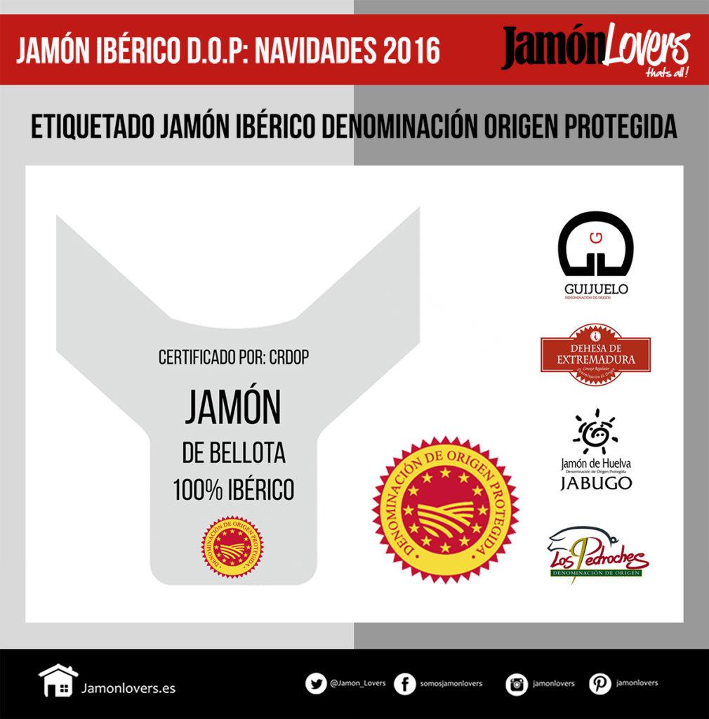 Etiquetas Jamón Ibérico Denominación de Origen Protegida