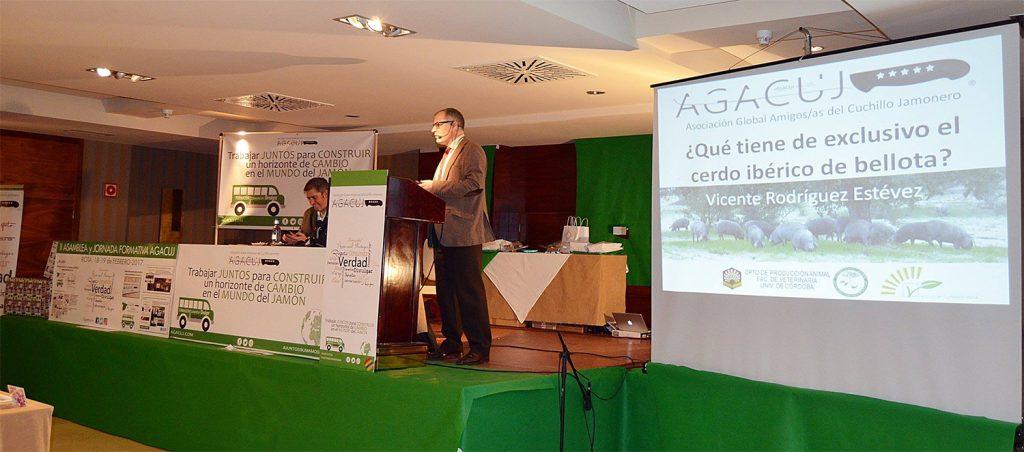 II Jornada Formativa sobre el Jamón de la mano de AGACUJ: Vicente Rodriguez Estévez, ¿qué tiene de exclusivo el cerdo ibérico de bellota?