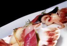 Vieiras con Jamón Ibérico y toques de calamar