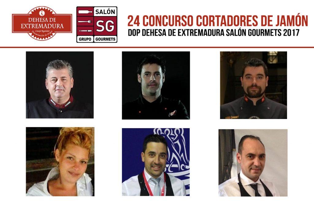 Participantes 24 Concurso Cortadores de Jamón Dehesa de Extremadura