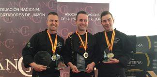 Podium Campeonato Nacional Cortadores de Jamón ANCJ 2017
