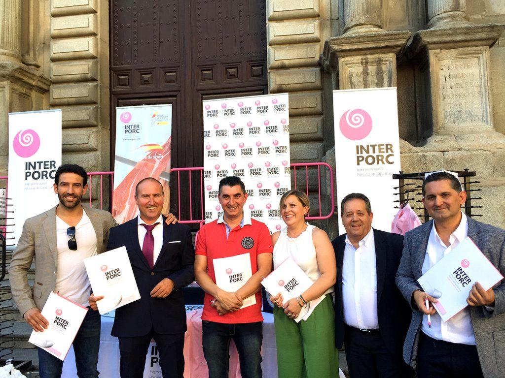 Jurado de la final de cortadores de jamón de capa blanca Interpor Spain