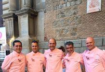 Participantes de la final de cortadores de jamón de capa blanca Interpor Spain